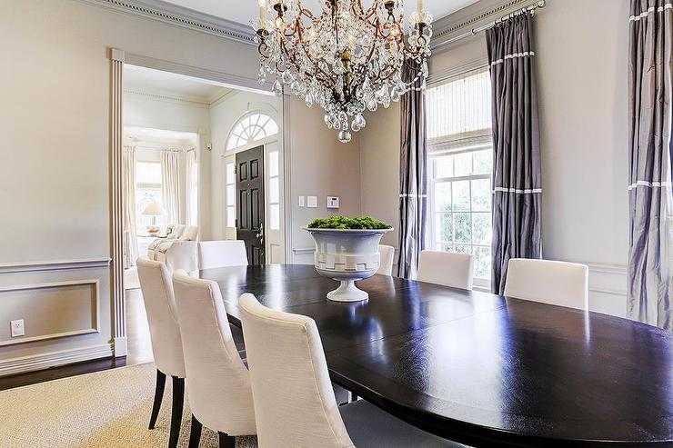 Dining Area With Wainscoting ~ Current trends in window treatments caliber homes new