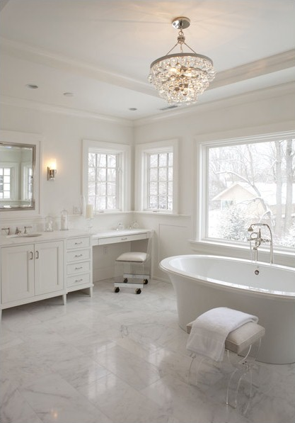 A Guide To Bathroom Chandeliers Caliber Homes New